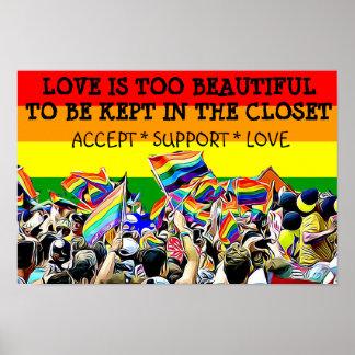 LGBT-kärlek är den härliga paradregnbågeAFFISCHEN Poster