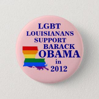 LGBT-Louisianans för Obama 2012 Standard Knapp Rund 5.7 Cm