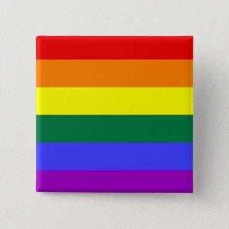 LGBT-pride knäppas (kvadrera), Standard Kanpp Fyrkantig 5.1 Cm