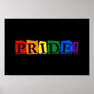 LGBT-pridetext undertecknar Poster