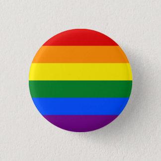 LGBTQA+ Regnbågeflagga knäppas Mini Knapp Rund 3.2 Cm
