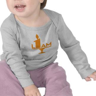 Liam 1st födelsedagsfestt-skjorta med stearinljuse tröjor