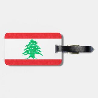 Libanesisk flagga för modernt mönster bagagebricka