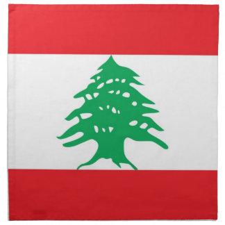 Libanesisk flagga på den MoJo servetten Servett Med Tryck