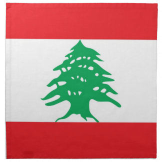 Libanesisk flagga på den MoJo servetten Tygservett