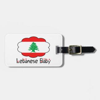 Libanesisk märkre för flaggababybagage bagagebricka