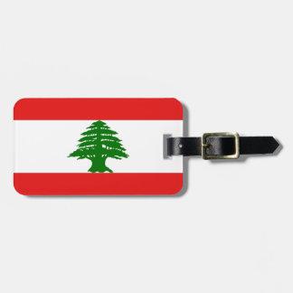 Libanon bagagemärkre (tillfoga din kontakt info), bagagebricka