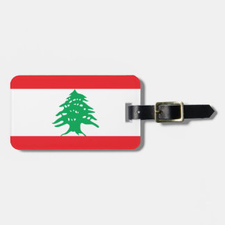 Libanon flagga bagagebricka