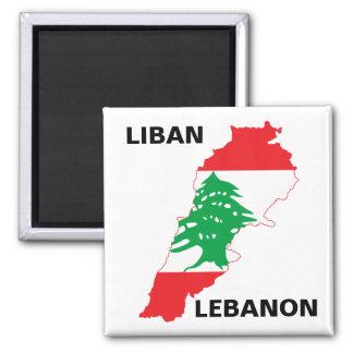 Libanon flaggakarta magnet