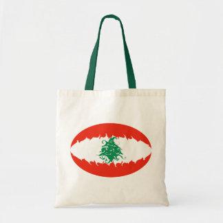 Libanon hänger lös den Gnarly flagga Tygkassar
