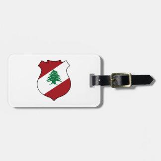 Libanon vapensköld bagagebricka
