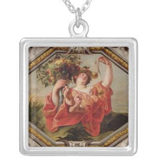 Libra från teckenet av zodiacen silverpläterat halsband
