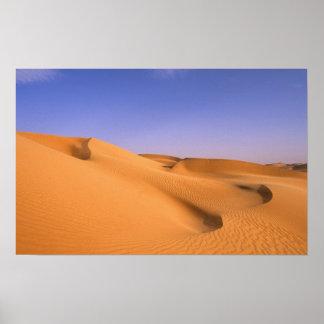 Libyen Fezzan, Sahara öken, Erg Murzuq, Sand Poster