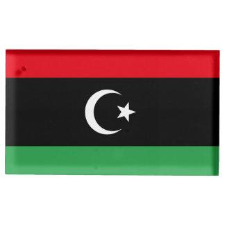 Libyen flagga bordskorthållare