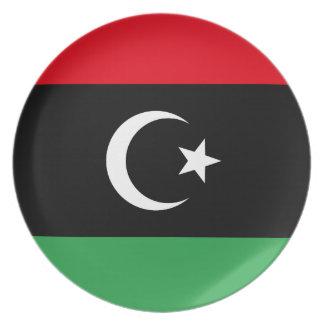 Libyen flagga fest tallrikar