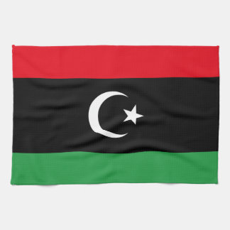 Libyen flagga handhanduk