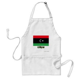Libyen flagga med namn förkläde