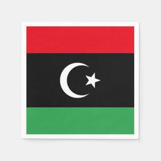 Libyen flagga papper servetter