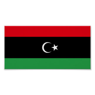 Libyen flagga poster