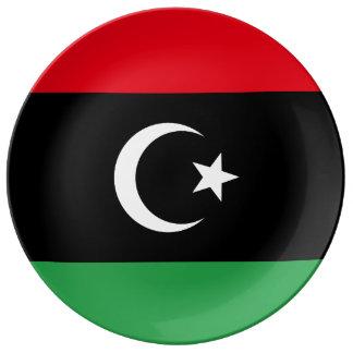 Libyen flagga tallrikar i porslin