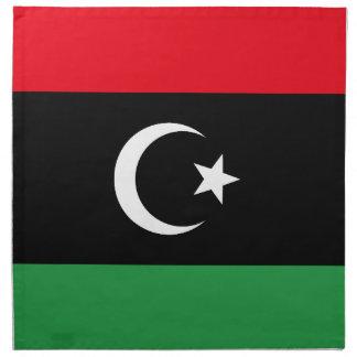 Libyen flagga tygservett