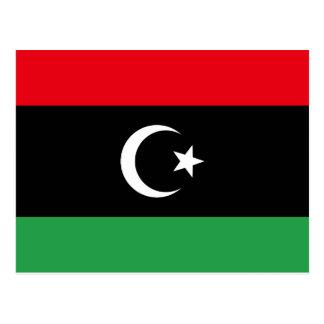 Libyen flagga vykort