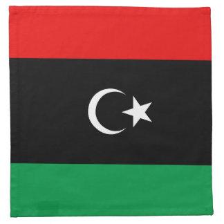 Libyen flaggaservett tygservett