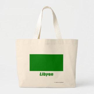 Libyen Flagge mit Namen Tygkasse