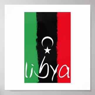 """""""Libyen"""" kungarike av den Libyen flagga (1951-1969 Poster"""