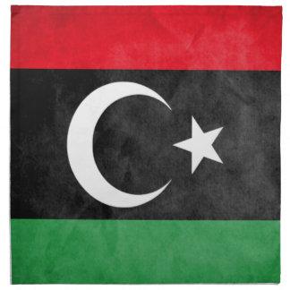 Libysk flagga tygservett