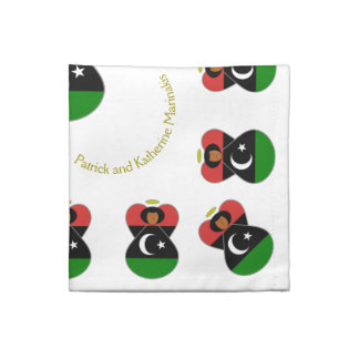 Libysk flaggaängel tygservett