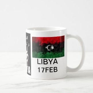 Libyskt blod är röd linje vit mugg