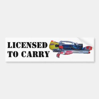 Licenserat för att bära bildekal