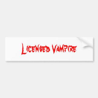 Licensierad vampyr bildekal