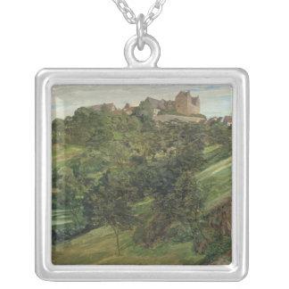 Lichtenberg slott i Odenwald, 1900 Silverpläterat Halsband