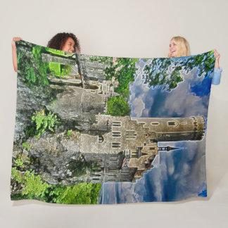 Lichtenstein slott, tyskland akrylkonst fleecefilt