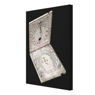 Lidded kompass, 1627 canvastryck