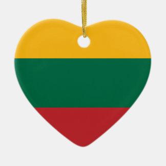 Lietuvos Valstybės Vėliava, Vytis, Litauen flagga Julgransprydnad Keramik