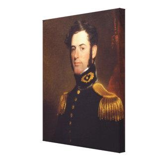 Lieutenant av ingenjörer Robert E. Lee i 1838 Canvastryck