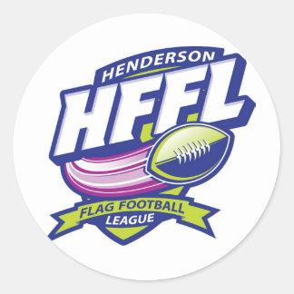 Liga för Henderson flaggafotboll Runt Klistermärke