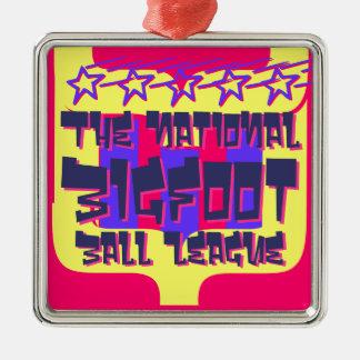 Ligan för medborgareBigfoot boll Julgransprydnad Metall