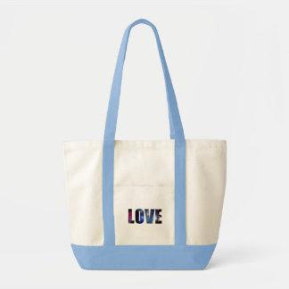Lik fyrverkeridesign för kärlek tygkasse