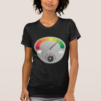 Lik motvilja mäter mätinstrumentsymbolen tee shirts