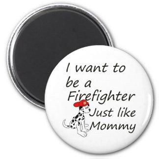 Lika mammor för brandman magnet