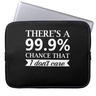 Likgiltighetpersonen att bry sig inte 99 riskerar laptop sleeve