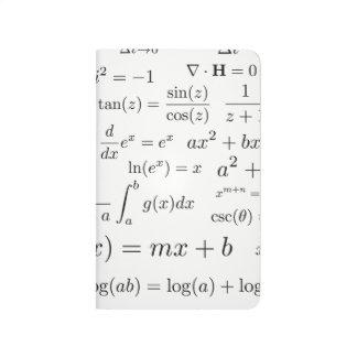 Likställande av Math och vetenskap stoppa i fickan Anteckningsbok