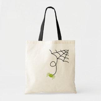 Lil grön spindel budget tygkasse