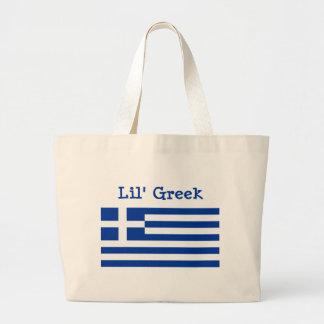 Lil hänger lös den grekiska totot jumbo tygkasse