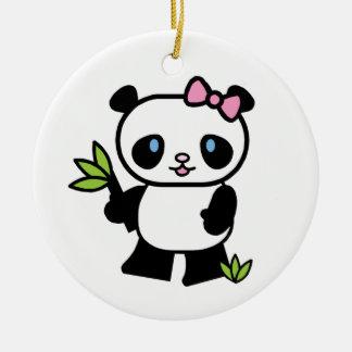 Lil Pandaflicka Julgransprydnad Keramik