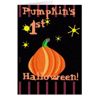 Lil pumpa 1st Halloween Hälsningskort